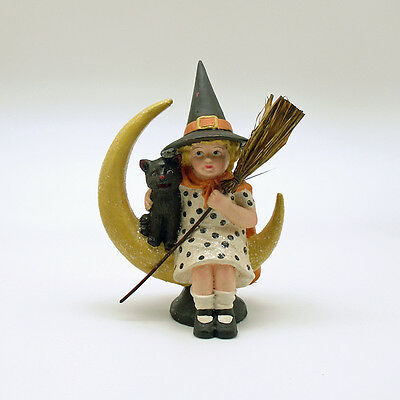 Midnight Moon Halloween Decoration Bethany Lowe Witch Crescent Moon