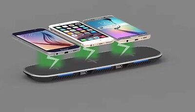 3 in 1 Qi Wireless Fast Charger Charging Stand Dock for Samsung Galaxy / iPhone