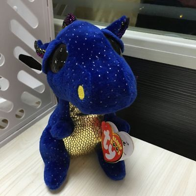 Soft Toy From TY BEANIES BOOS SaffireThe Blue and gold Dragon