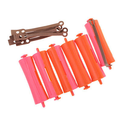 Lot of 6 Hairdressing Perm Rods for Salon Girls Hair Styling Design 2.4x9 cm