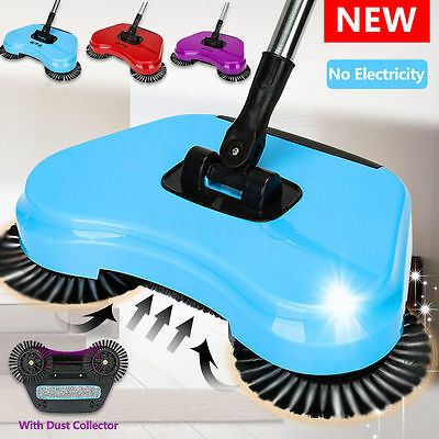 New Hand Push 360° Rotary Home Use Magic Manual Telescopic Floor Dust Sweeper
