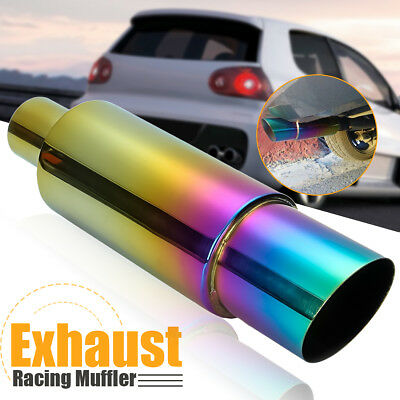 Universal Stainless Racing Car Exhaust Muffler Rear Tail Pipe Colorful Straight