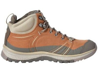 KEEN Terradora Lthr Mid Waterproof Womens Hiking Boots - Brown/Grey