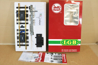 LGB 50950 G SCALE AUTOMATIC ELECTRIC COLOUR LIGHT SIGNAL MINT BOXED nl