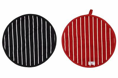 Rushbrookes Butchers Stripe Cook/Chefs Pad Hob Cover in Red or Navy