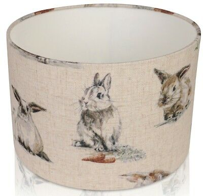 Clarke and Clarke Linen Hare, Rabbit, Lampshade ,  Table Lamp ,  Pendant Shade