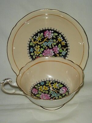 Stunning Vintage Paragon English Bone China Chintz Flowers Cup & Saucer G6863