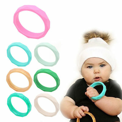 CMJ Silicone Chew BANGLE Biting Bracelet Baby Teething Teether Chewy Autism ADHD