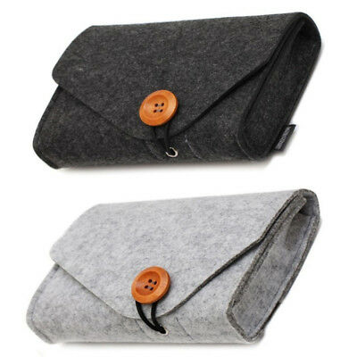 Hot Felt Pouch Power Bank Storage Bag For Data Cable Mouse Travel Organizer