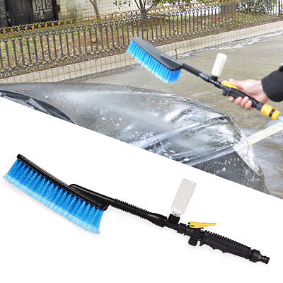 Durable Car Wash Brush Retractable Long Handle Water Flow Switch Foam Bottle New