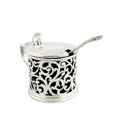 Antique Victorian Sterling Silver Mustard Pot - 1857