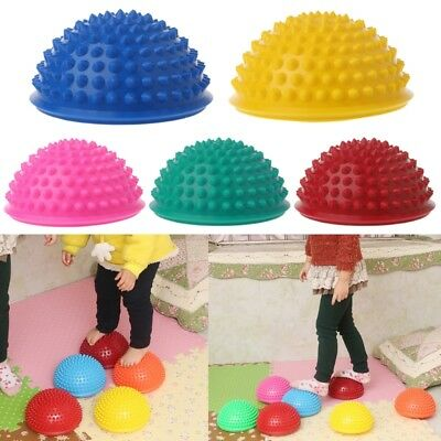 Inflatable Yoga Half Ball Massage Point Stepping Stones Exercise Stabilizer Gym