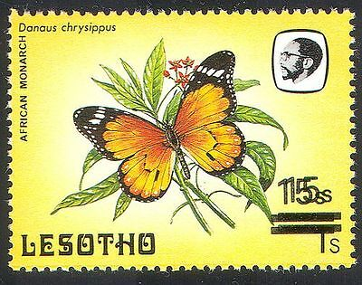Lesotho 1984 Butterflies Surcharge/15s on 1s   1v Double ERROR ref:b3152