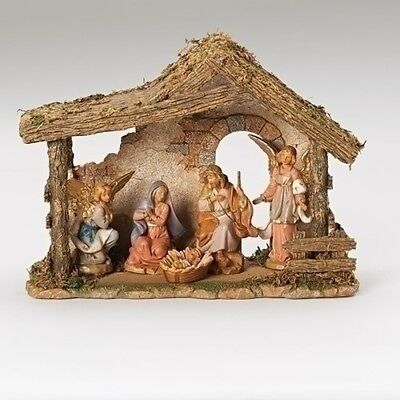 Fontanini 5 Piece Italian Christmas Nativity Set with Stable 54463 Made in Italy