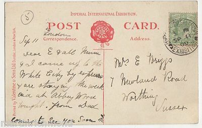 Imperial International Exhibition 1909 Postmark on Postcard, B486