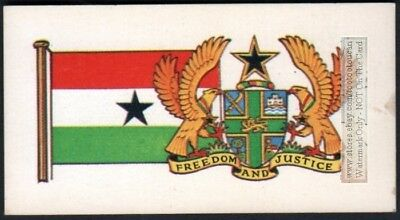 Flag And Standard - Banner For Ghana c50 Y/O Trade Ad Card