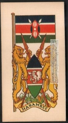 Flag And Standard - Banner For Kenya c50 Y/O Trade Ad Card
