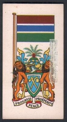 Flag And Standard  Banner For The Gambia c50 Y/O Trade Ad Card