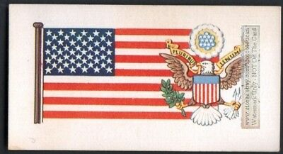Flag And Standard Banner United States Of America USA c50 Y/O ATrade Ad Card
