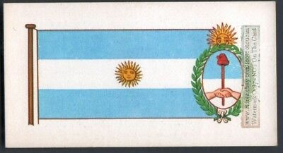 Flag And Standard Banner For Argentina c50 Y/O Trade Ad Card