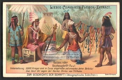 Peru Indian Communication  Knotted Cord Writing South America 1895 Trade Card