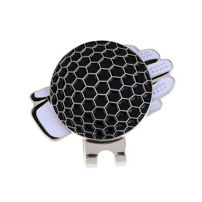 New Funny Glove Golf Hat Clip with Magnetic Ball Marker Golfer Gift Black