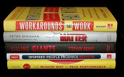 New LOT of 5 BOOKS Business Self-Help Motivational Goals Team Management Sales 1