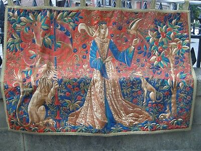 Tapestry Style Wall Hanging - French Medieval