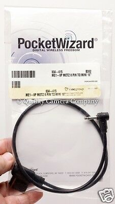 PocketWizard ME1-8P - Metz 8 Pin to Mono Miniphone Flash Sync Cable - NEW!