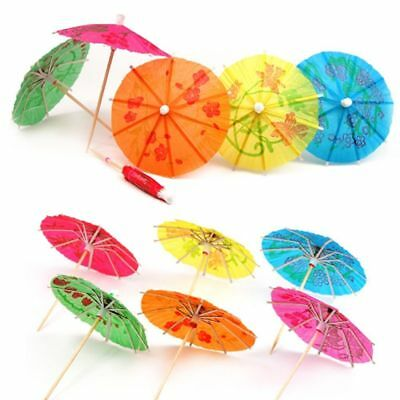 12 x Colorful Mixed Paper Cocktail Drink Umbrellas Parasols Picks Party Drinks