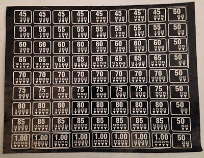 New Antares - Combo Vending - Coin Mechanism Price Stickers - Black - Original