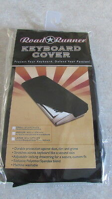 "Road Runner RKCSM Small Mini Keyboard Cover 25 and 37-key Stretch 35""x9.5""x3"""