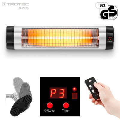 TROTEC Infrared Radiant Heater IR 2550 S - 3 heat settings level, up to 2,500 W