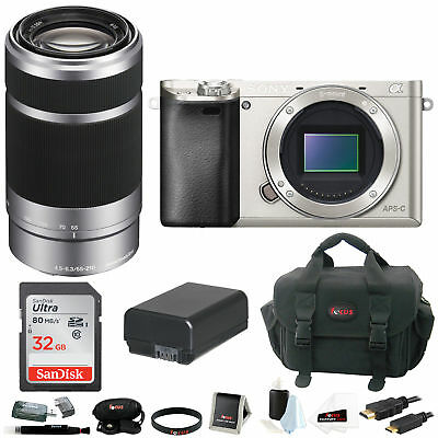 Sony Alpha a6000 24.3 Interchangeable Lens Camera - Body only with Lens Bundle