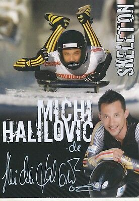 Michi Halilovic  Skeleton Autogrammkarte original signiert 329513