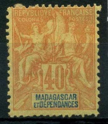 French Offices in Madagascar 1896 Yv. 37 MH 80%
