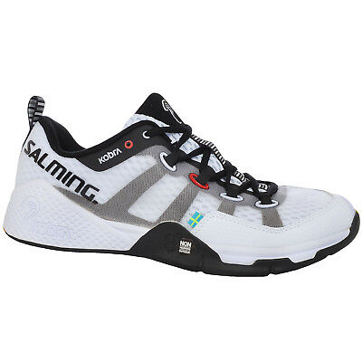 Salming Kobra Mens Indoor Court Badminton Squash Tennis Shoes Trainers - White