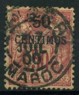 Morocco 1891 Yv. 6 Used 100% 50 centimos Roses