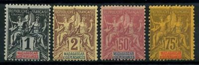 French Offices in Madagascar 1896 Yv. 28-29,38,39 MH 100%