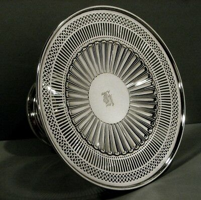 American Sterling Silver Compote        Cake Stand             c1920