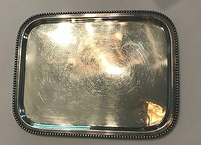 Antique Sterling Pin or Vanity Tray 4.5 x 6 inches 106.9 grams