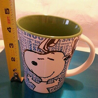 Peanuts Snoopy Coffee Tea Blue  Mug. 15oz Collection