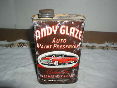 Vintage 60's Can Andy's Glaze Auto Wax