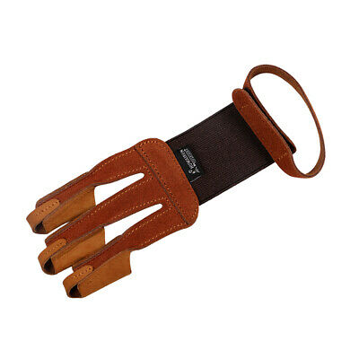 Archery Hand Finger Protective Glove Bow Arrow Hunting Shooting Glove Brown