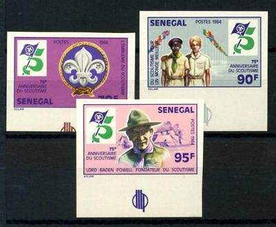 Senegal 1984 Mi. 814-816 MNH 100% Imperf. Lord Baden Powell Founder of Scaoutis