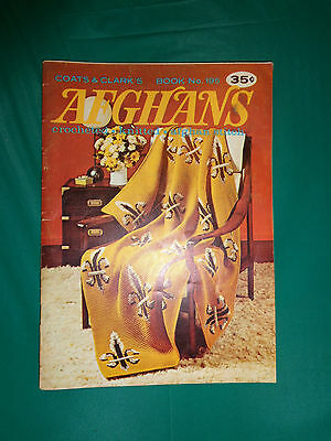 Coats & Clark's Book #195 Afghans Crocheted, Knitted & More