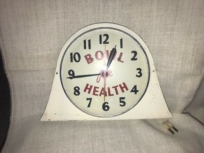 Vintage 1950's Bowl For Health Electric Clock