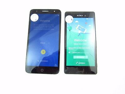 Lot of 2 Cracked Google Assorted Phones Unknown Carrier Check ESN K