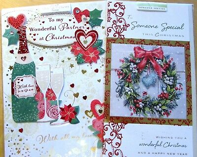 Christmas 2017 - Handmade Partner & Someone Special cards x 2