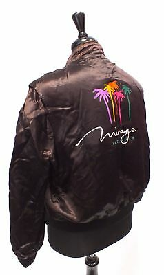 MASTER APPAREL PRODUCTS Silky MIRAGE Las Vegas Reversible Bomber Jacket M - L06